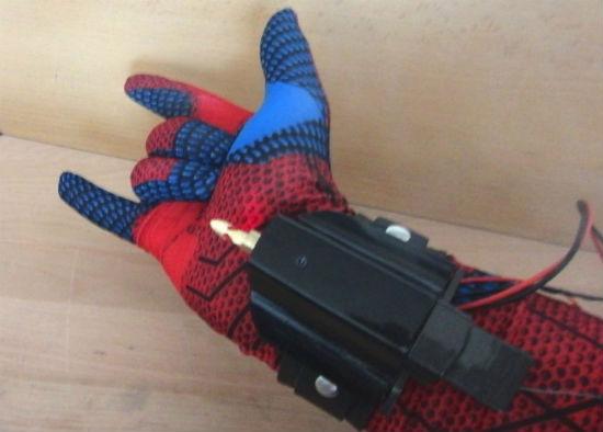 real spider man web shooter