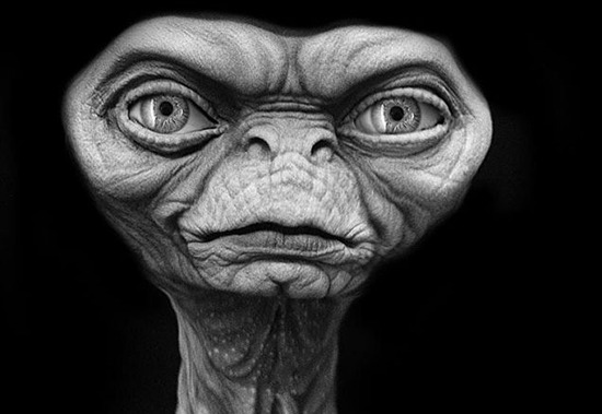 Rick Baker Night Skies aliens