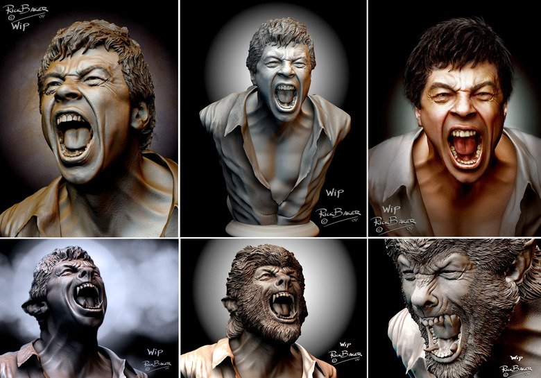 the wolf man concept art