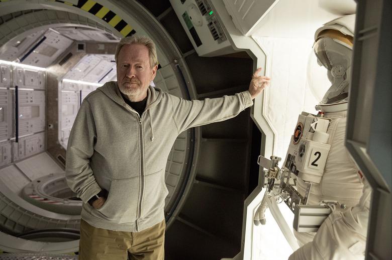 Ridley Scott on set of THE MARTIAN