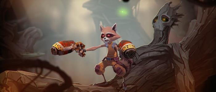 rocket raccoon and groot