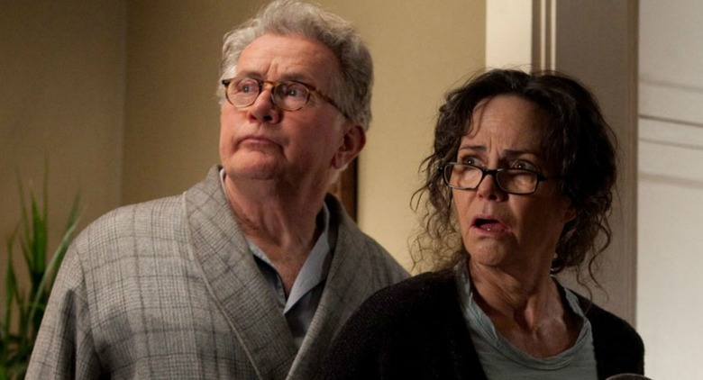 Martin Sheen and Sally Field as Uncle Ben and Aunt May in The Amazing Spider-Man