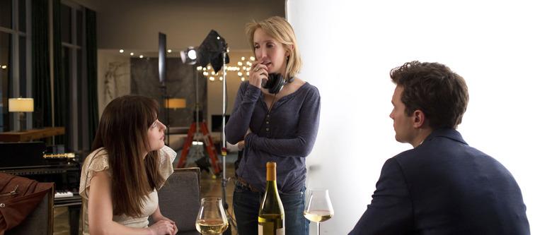 Sam Taylor-Johnson directing Fifty Shades of Grey