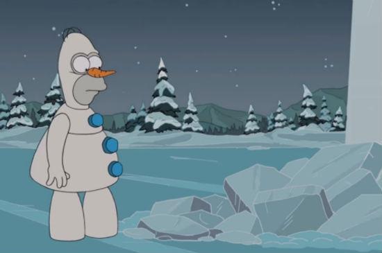 The Simpsons Frozen parody