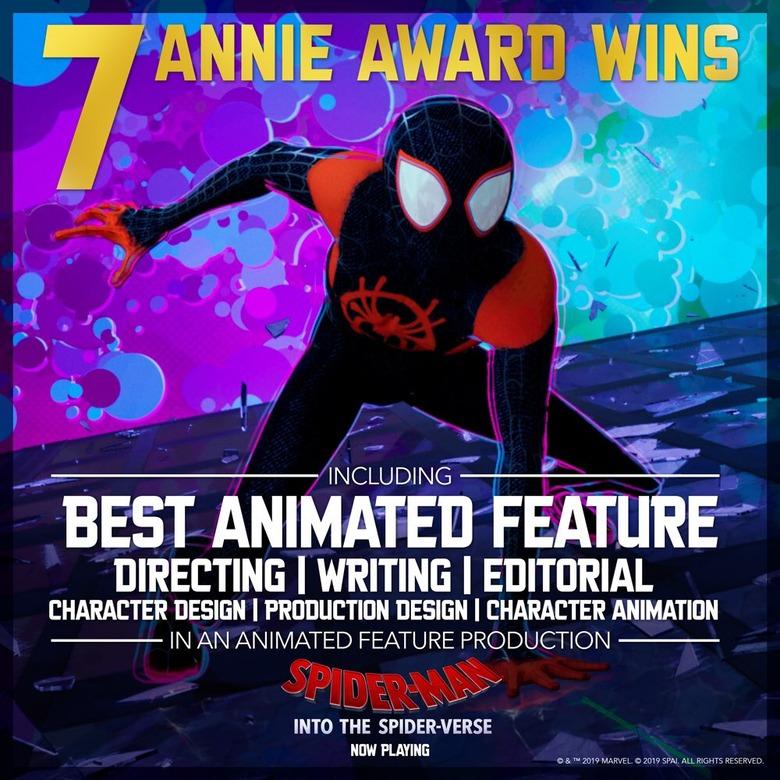 spider-man into the spider-verse annie awards