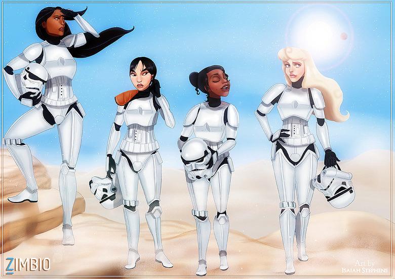 Disney-Princesses-Star-Wars-Characters