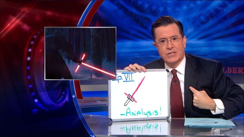 Stephen Colbert lightsaber