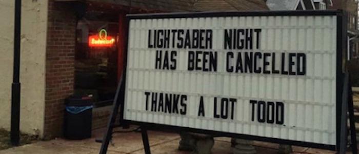 lightsaber night