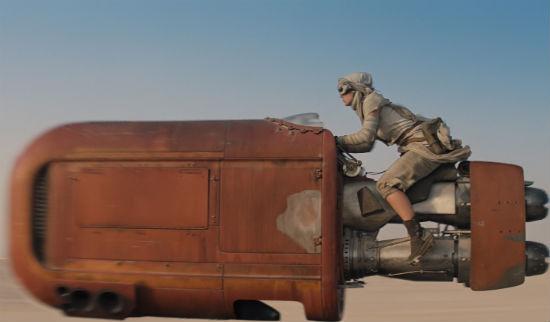Daisy Ridley Speeder Star Wars Force Awakens header