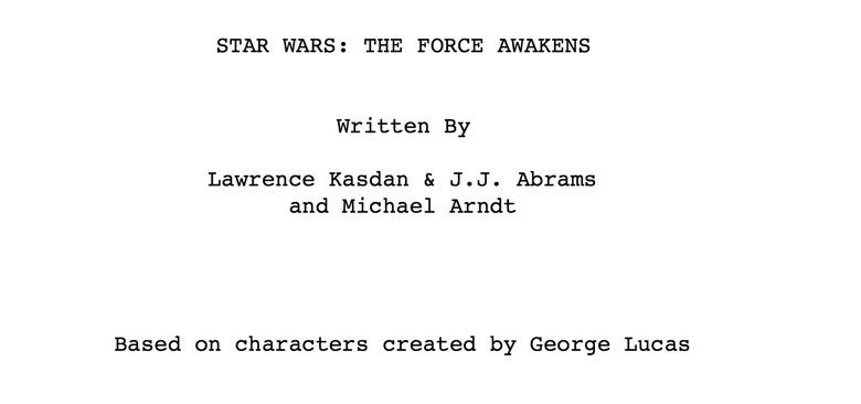 star wars: the force awakens screenplay