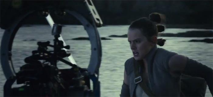 Star Wars The Last Jedi behind the scenes reel
