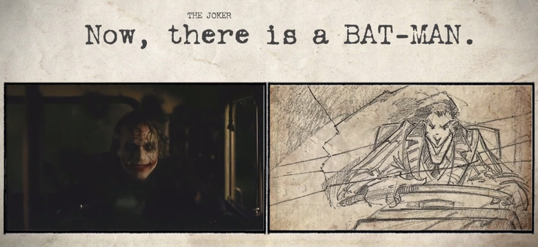storyboards compared to movies - The Dark Knight
