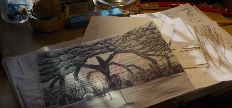 stranger things season 2 wills drawing