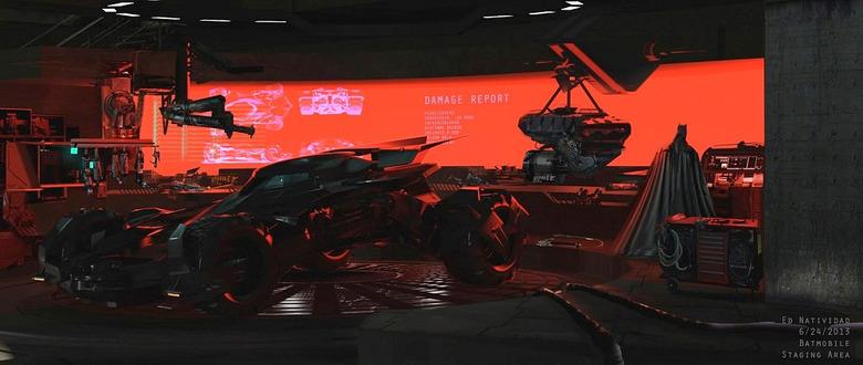 Batman v Superman Concept Art Batcave
