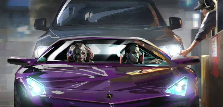 Suicide Squad Concept Art - Joker and Harley Quinn Drive Thru
