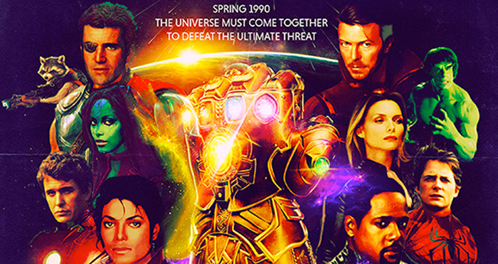 Avengers Infinity War 90s Poster