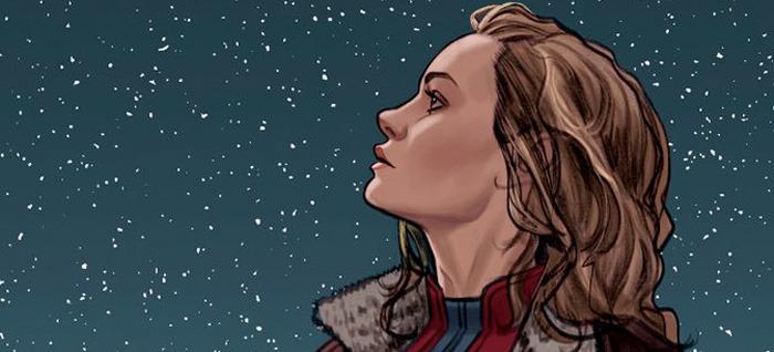 Captain Marvel Comic Cover - Brie Larson
