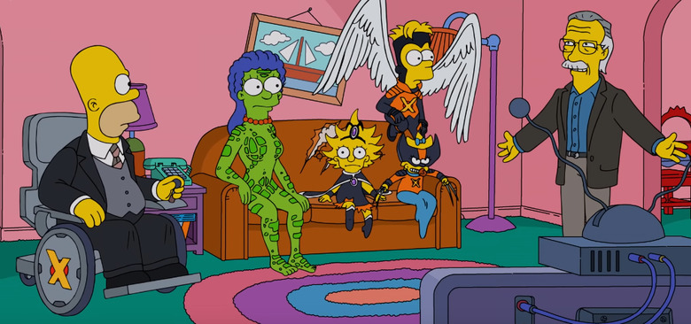 The Simpsons X-Men Couch Gag