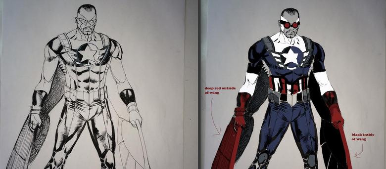 Captain America Early Development Concept Art