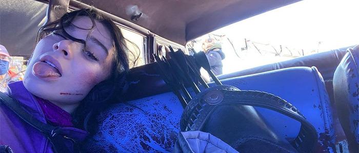 Hawkeye - Hailee Steinfeld on Set