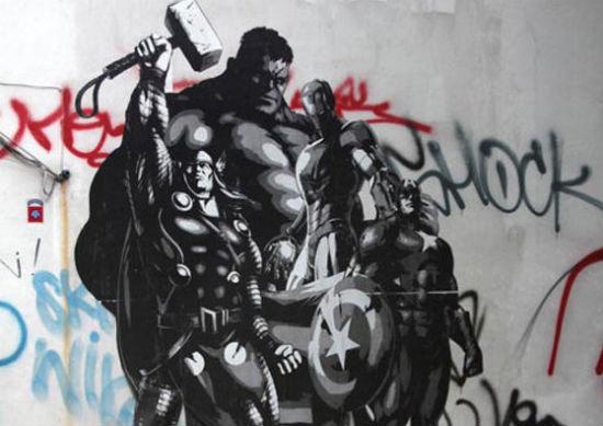 Avengers graffiti header