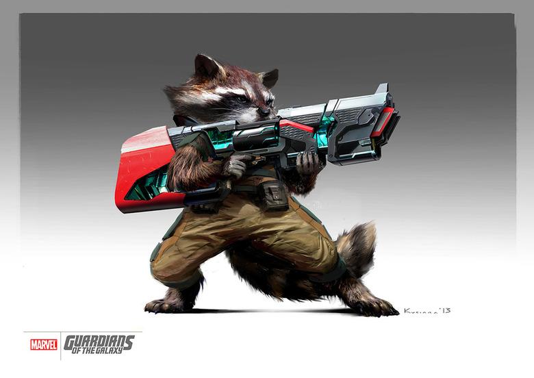 Maciej Kuciara Rocket Raccoon concept art