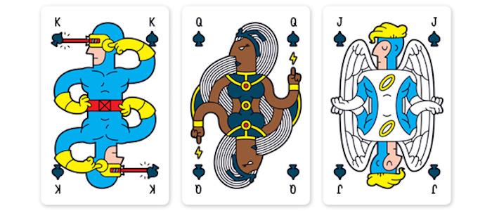 X-Men playing cards header