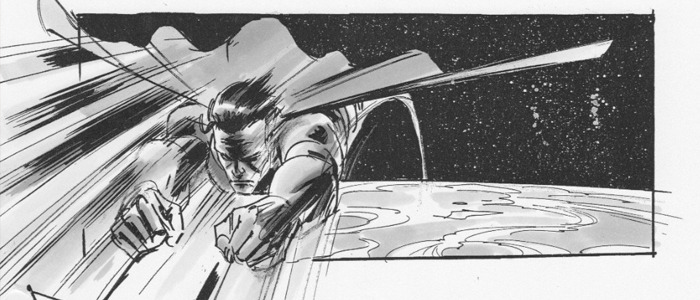 Superman Flyby storyboards