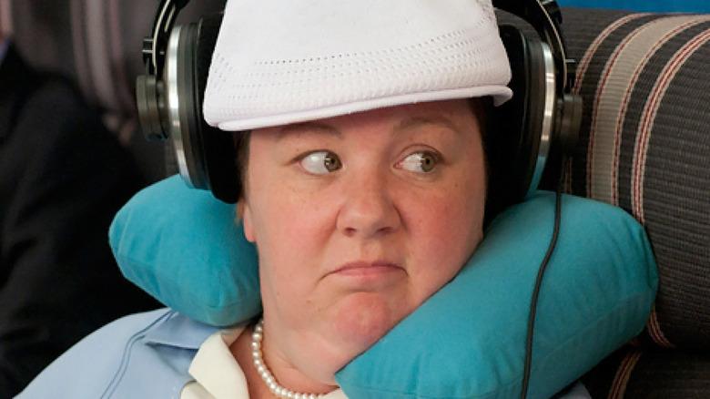 Melissa McCarthy riding on plane bridesmaids