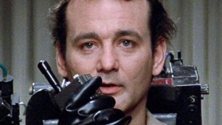 Bill Murray in proton pack walkie talkie