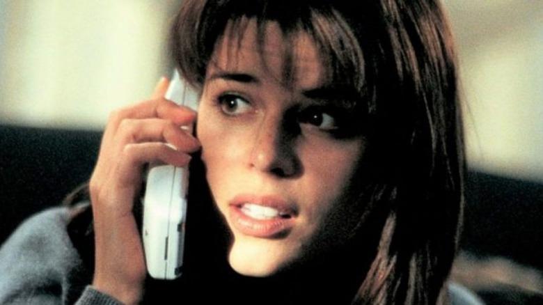 Neve Campbell talks on phone Scream