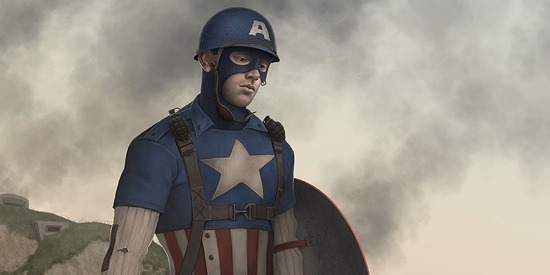 Captain America by Jonathan Mayer http://elandain.deviantart.com/art/I-could-have-done-more-132286839