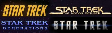 star trek logos