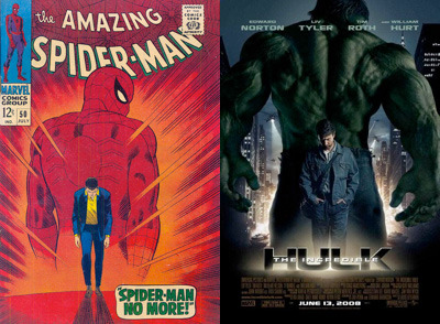 Spider-Man 50 and The Incredible Hulk Poster
