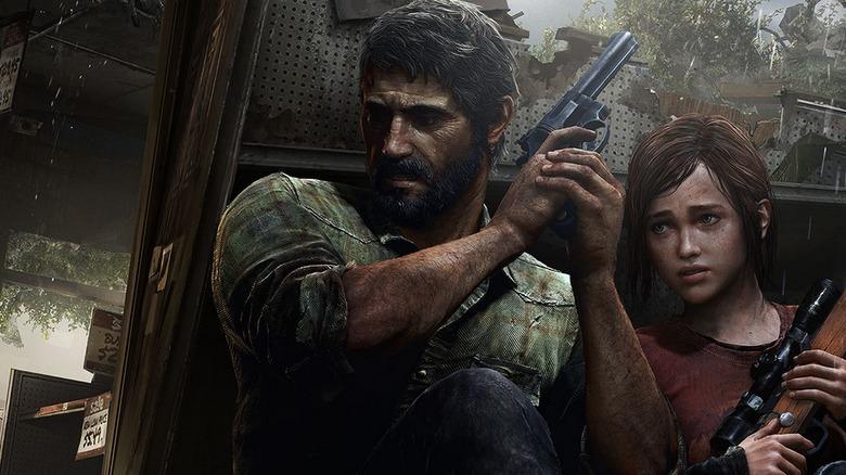 Joel and Ellie preparing to fight