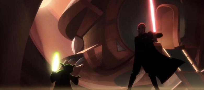 Animated Yoda vs Dooku Fight