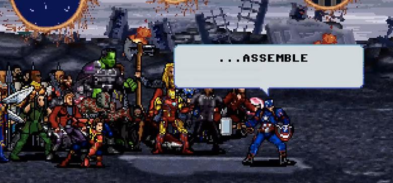Avengers Endgame 16-Bit Final Battle