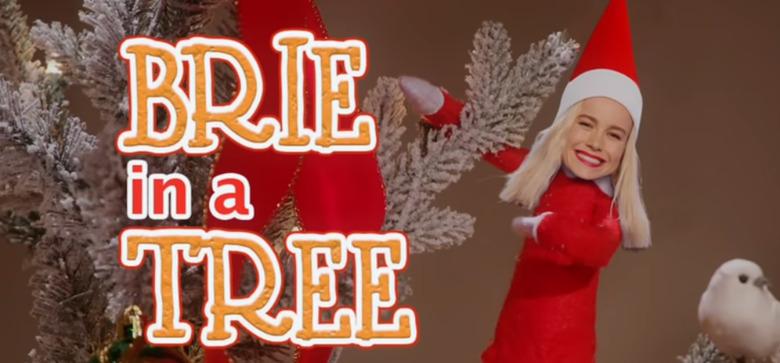 Brie Larson's Elf on a Shelf