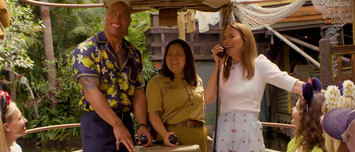 Dwayne Johnson and Emily Blunt Ride Jungle Cruise