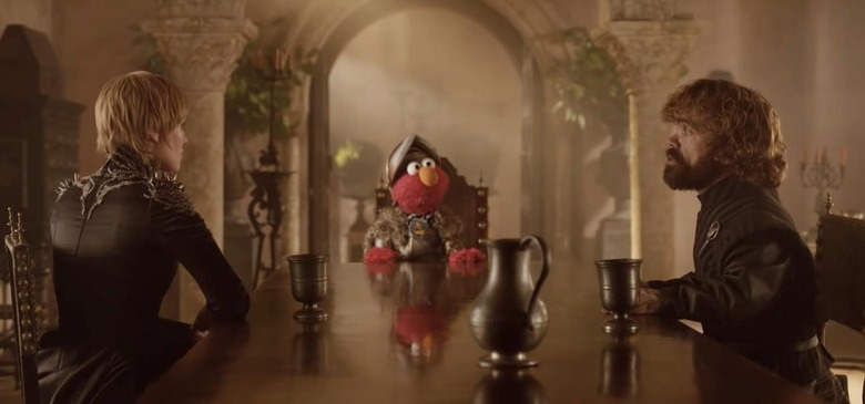 Elmo on Game of Thrones