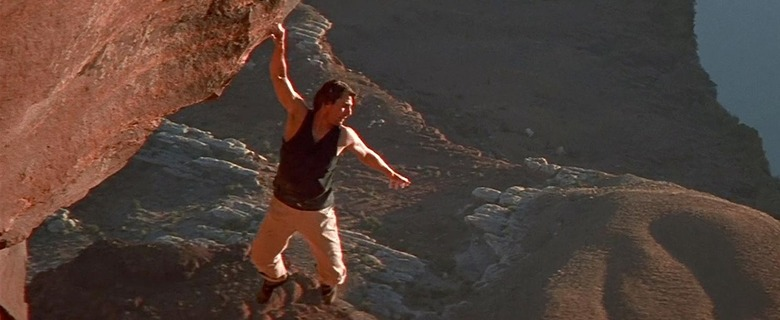 Mission Impossible 2 - rock climbing movie scenes