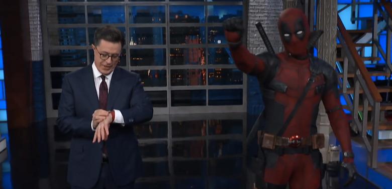 The Late Show Deadpool Monologue