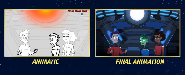 Star Trek: Lower Decks Storyboard Comparison