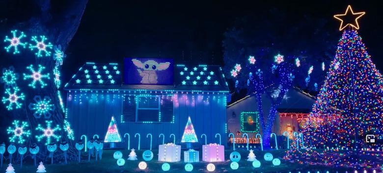 Disco Star Wars Christmas Lights Display