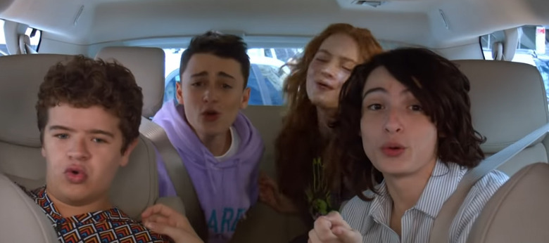 Stranger Things Kids on Carpool Karaoke
