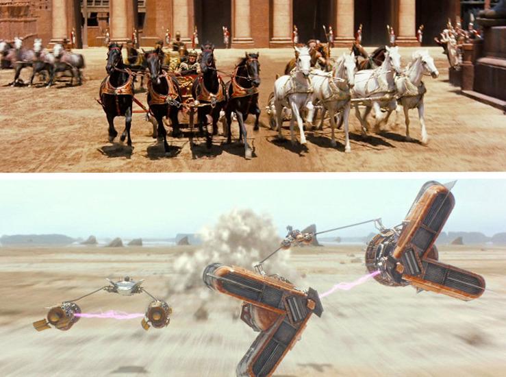 The Phantom Menace Ben-Hur - Chariot Race vs Podrace