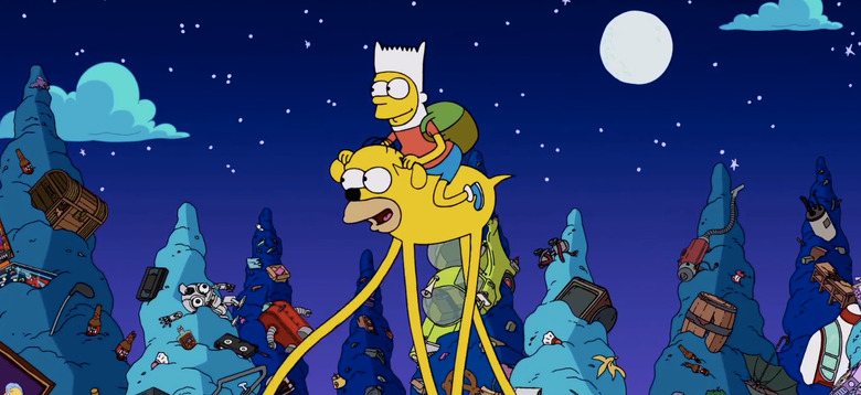 The Simpsons Adventure Time Couch Gag
