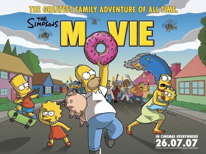 The Simpsons Movie Quad Poster