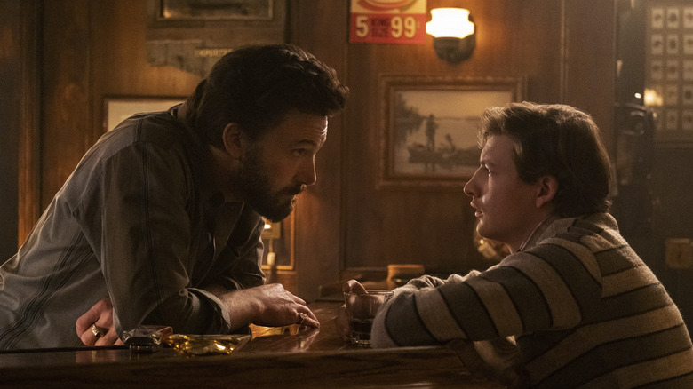 Ben Affleck and Tye Sheridan in The Tender Bar