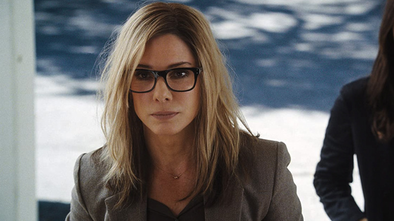 Sandra Bullock wearing glasses